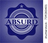 absurd emblem with jean texture   Shutterstock .eps vector #739283401
