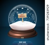 Snow Globe On Blue Background....