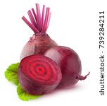 Isolated Beetroot. Two Raw...