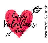 happy valentine's day vector... | Shutterstock .eps vector #739284739