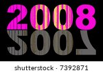 new year 2008 over fading 2007 | Shutterstock . vector #7392871