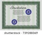green vintage invitation...   Shutterstock .eps vector #739288369