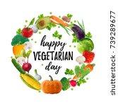 vector illustration  happy... | Shutterstock .eps vector #739289677
