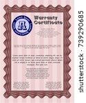 red vintage warranty...   Shutterstock .eps vector #739290685