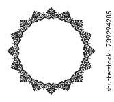 vintage classic frame. damask... | Shutterstock .eps vector #739294285