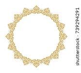 vintage classic frame. damask...   Shutterstock .eps vector #739294291
