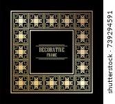 vintage ornamental art deco...   Shutterstock .eps vector #739294591