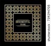 vintage ornamental art deco...   Shutterstock .eps vector #739294705