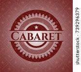 cabaret realistic red emblem   Shutterstock .eps vector #739296379
