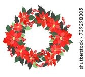 christmas card  a banner with a ... | Shutterstock .eps vector #739298305