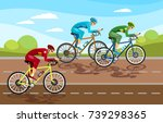 cycle racing people on bicycles ... | Shutterstock .eps vector #739298365