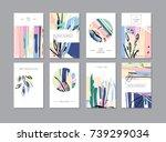 set of creative universal... | Shutterstock . vector #739299034