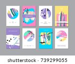 set of creative universal... | Shutterstock . vector #739299055