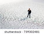 miniature people  businessman...   Shutterstock . vector #739302481