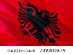 albanian flag. flag of albania. ... | Shutterstock . vector #739302679
