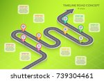isometric navigation map... | Shutterstock .eps vector #739304461