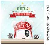 merry christmas and happy new...   Shutterstock .eps vector #739305781