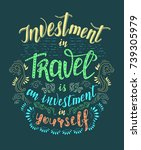 travel. vector hand drawn...   Shutterstock .eps vector #739305979