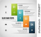 vector illustration of slice... | Shutterstock .eps vector #739306897
