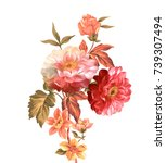 Stock photo enthusiasm is bold and unrestrained of flowers the leaves and flowers art design 739307494