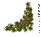 christmas decorations with fir... | Shutterstock .eps vector #739312369