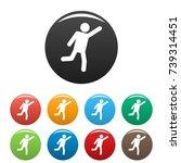 stick figure stickman icons set ... | Shutterstock .eps vector #739314451