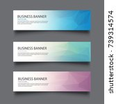 a set of vector banners with... | Shutterstock .eps vector #739314574