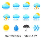 weather icon set | Shutterstock .eps vector #73931569