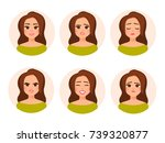 vector female character in... | Shutterstock .eps vector #739320877