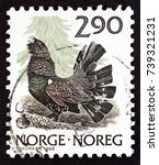 norway   circa 1988  a stamp... | Shutterstock . vector #739321231