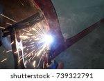 welder industrial automotive... | Shutterstock . vector #739322791