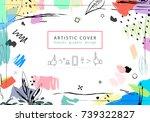 creative universal floral... | Shutterstock . vector #739322827