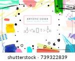 creative universal floral... | Shutterstock . vector #739322839