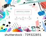 creative universal floral... | Shutterstock . vector #739322851