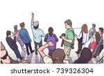 illustration of group of... | Shutterstock .eps vector #739326304