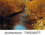 autumn river | Shutterstock . vector #739326577