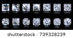 fourteen various square and...   Shutterstock . vector #739328239