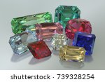 nine colorful jewels  ruby ... | Shutterstock . vector #739328254