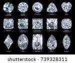 set of fifteen popular diamond...   Shutterstock . vector #739328311