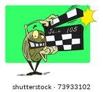 vector cartoon character with... | Shutterstock .eps vector #73933102