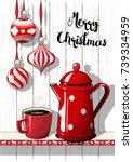 holidays vintage motive ...   Shutterstock .eps vector #739334959