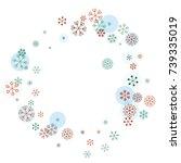 round frame or border christmas ... | Shutterstock .eps vector #739335019