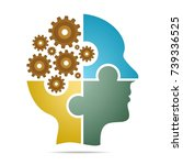 the human head composed of... | Shutterstock .eps vector #739336525