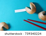 fortune cookie photo for your... | Shutterstock . vector #739340224