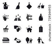 16 vector icon set   cleanser ... | Shutterstock .eps vector #739344955