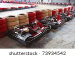 row of carts  ready to start | Shutterstock . vector #73934542