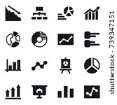 16 vector icon set   crisis ... | Shutterstock .eps vector #739347151