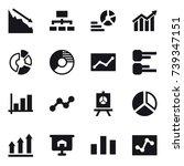 16 vector icon set   crisis ... | Shutterstock .eps vector #739347151