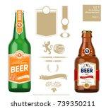 set of elements for building... | Shutterstock .eps vector #739350211