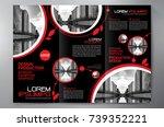 business brochure. flyer design.... | Shutterstock .eps vector #739352221